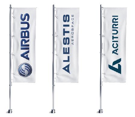 banderas mecanizados aeornauticos