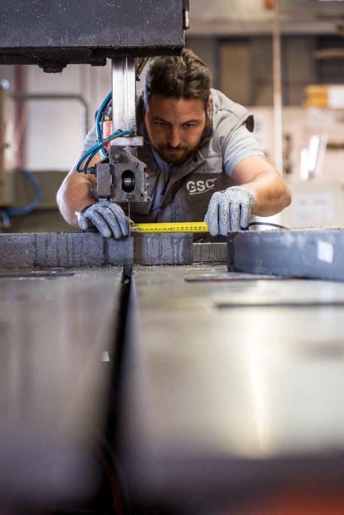 man working metal